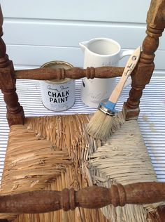 Painting rush seats with Chalk Paint Do your rush seat stools or dining chairs look a little tired? Well give them a fresh new look with a coat of Chalk Paint. There was a time when rush seated chairs and stools we're all the rage, but as tastes have moved on, in their original state…
