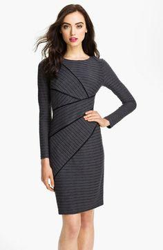 Asymmetrical Seam Stripe Dress - Lyst