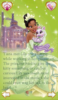 Princess Tiana and Lily