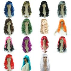 2015 Hot Long Curly Afro Clown Full Wigs Hair Fancy Costume Party  Adult Child 8d7088f214b