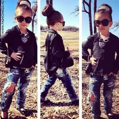 Adorable and Kind of sad that a 6 year old has more style than me.