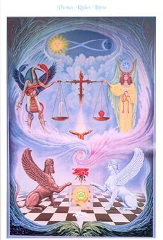 Johfra Bosschart Libra: Venus and Weighing of the Heart Ceremony