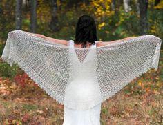 Gorgeous lace wedding shawl