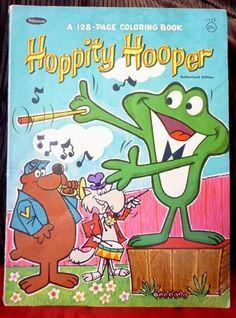 Hoppity Hooper Frog, 1966 Whitman Coloring Book - Jay Ward Cartoons, Jason Studios
