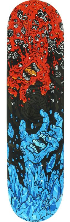 Santa Cruz - Fire and Ice Skateboard Deck for sale online Skateboard Decks For Sale, Skate Decks, Skateboard Art, Skates, Skate Store, Hypebeast Wallpaper, Skate Art, Longboarding, Santa Cruz