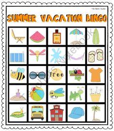 End Of The School Year (Summer Vacation) Bingo Summer School Themes, End Of School Year, School Fun, School Stuff, School Ideas, Kids Luau Parties, School Parties, School Events, Luau Party