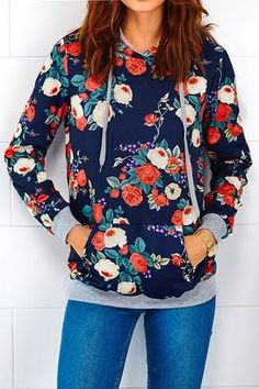 Cupshe Floral We Know Hooded Sweatshirt