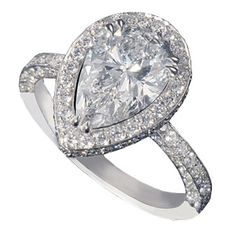 i love something about this tear shaped diamond ring, its classy and elegant but modern and pretty!