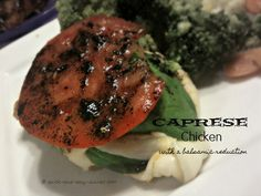 Oh my!  If you love caprese salad, you'll love it made into a meal with this caprese chicken and balsamic reduction.