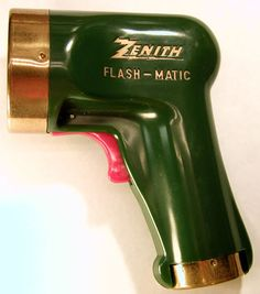1955: The Zenith Flash-Matic, the first wireless TV remote control, invented by American electrical engineer Eugene Polley.