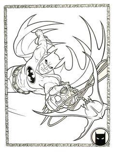 Batman Coloring Book Page Printable