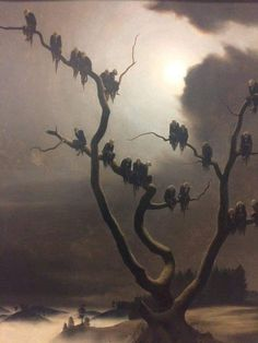 "Painting called ""Demons in the Tree"" made in 1933 by a famous painter named: Franz Sedlacek"