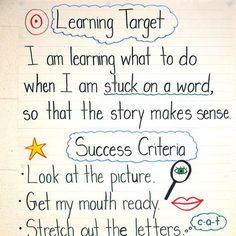 main idea learning goal/success criteria