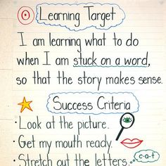 I like that this includes success criteria!