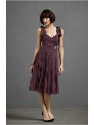 Chiffon hook-n-eye Closure Knee-Length Special Occasions Dress