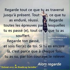 Regarde tout ce que tu as traversé. Positive Attitude, Positive Vibes, Positive Quotes, Quote Citation, French Quotes, Meditation Music, Quotes About Strength, Positive Affirmations, Love Life