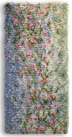 Rya rug Kesätär by Minna Polus h Rya Rug, Surface Art, Latch Hook Rugs, Woven Rug, Hand Knotted Rugs, Art Textile, Weaving Projects, Tear, Loom Weaving
