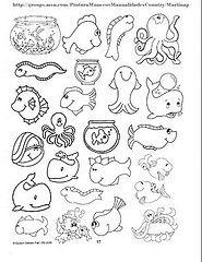 Animais marinhos (Lucia Helena Cesar) Tags: feltro animais desenhos molde riscos aplicao patchcolagem