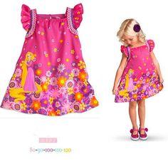 wedding flower girl dress kids girl clothes children clothing baby brand toddler dresses Rapunzel robe princesse enfant kinder