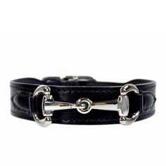 Belmont Collar in Jet Black & Nickel Designer Dog Collars, Black Italians, Polished Nickel, Italian Leather, Jet, Luxury, Stylish, Accessories, Jewelry Accessories