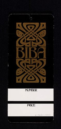 1960s Biba Label |  John McConnell, Pentagram