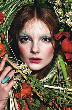 Enikő Mihalik in 'Harvest' by Mario Sorrenti for W Magazine, April 2009.
