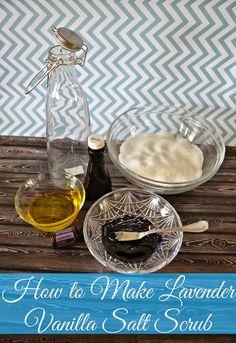 Lavender Vanilla Salt Scrub