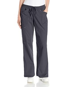 Cherokee Women's Ww Core Stretch 2-Tone Mid-Rise Drawstring Cargo Pant, Pewter, X-Large - http://best-women-shop.xyz/2016/06/29/cherokee-womens-ww-core-stretch-2-tone-mid-rise-drawstring-cargo-pant-pewter-x-large/