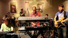 Snarky Puppy at ShapeShifter Lab performs Skate U Snarky Puppy Mike League: leader, bass Bob Lanzetti: guitar Mark Letteiri: guitar Nate Werth: percussion Justin Stanton: keyboard, trumpet Cory Henry: keyboard Mike Maher: trumpet Chris Bullock: sax Taron Locket: drums