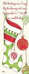Christmas Paintings - Twas the Night...  by Debbie DeWitt