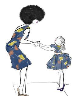 naturalhair momma par Nikisgroove sur Etsy, €30.00#afroart #naturalhairdaily