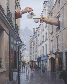 Gallery of Magic Realism, Surrealism, Surrealist, Fantastic Realism Magic Realism, Coffee Art, Surreal Art, Aesthetic Art, Photo Manipulation, Cute Wallpapers, Art Inspo, Collage Art, Art Photography