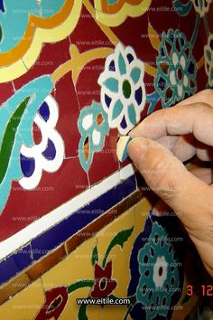 """""""Iranian mosaic tiles for interior design"""" Mosaic Tiles, Wall Tiles, Floor Carpet Tiles, Picture Tiles, Moroccan Tiles, Handmade Tiles, Color Tile, Pictures To Draw, Iranian"""