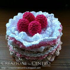 Dietetic cake - 6 coasters #crochet #coasters  $30