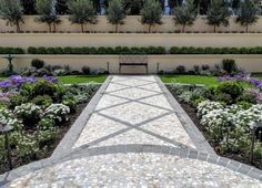 French Provincial Garden - plant layout and installation by Garden Insight to complement the stunning path detail designed by Leon House French Provincial, Garden Plants, Paths, Insight, Sidewalk, Layout, Detail, Outdoor Decor, Projects