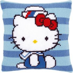 "Hello Kitty Marine 1 Cushion Cross Stitch Kit-16""X16"""