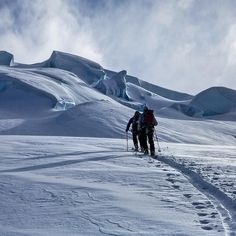 August South America Patagonia. Around the most famous peak of the region Cerro Torre there are a lot of places where during the cold August you will do ski mountaineering.    #alpinism #pow #skimo #patagonia #ski #cerrotorre @thenorthfaceeu @grivel @scarpaspa @julboeyewear @ballwatchcompany @movementskis @atk_race by hervebarmasse