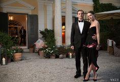 Max Snow and Vanessa Traina Snow, in Balenciaga.
