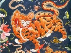 The Fish Skin Costumes of the Hoche People Chinese Tiger, Chinese Art, Tiger Painting, China Image, Chinese Embroidery, Chinese Design, Bold Prints, Textile Design, Beading Patterns