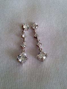 Swarvoski and Silver Drop Earrings by juliesringsandthings on Etsy