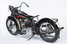 The bike is from the collection of the Wheels Through Time Transportation Museum in North Carolina...