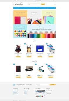 OpenCart Template , Stationery