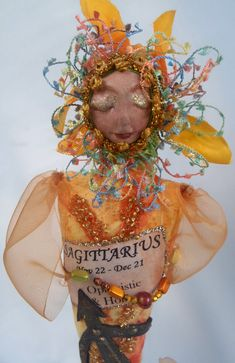 SAGITTARIUS ZODIAC Art Doll One Of A Kind 20 cm 8