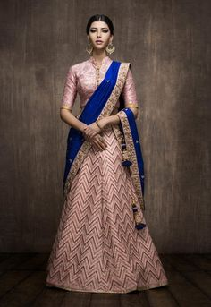 Find top amazing chevron pattern lehenga designs for weddings. Beautiful Chevron Lehenga designs for brides and bridesmaids must check out once. Lehenga Choli Designs, Bollywood Outfits, Bollywood Fashion, Indian Attire, Indian Wear, Indian Dresses, Indian Outfits, Green Lehenga, Chevron