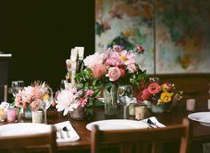 Pretty reception table via oncewed