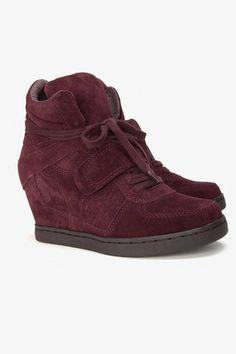 Ash Wedge Sneakers in Prune....