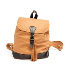 Leather tasseled backpack - Camel is always a great Fall choice!