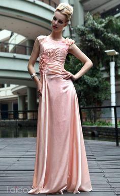 ゴージャスな Aライン 床まで届く長さの フラワーイブニングドレス