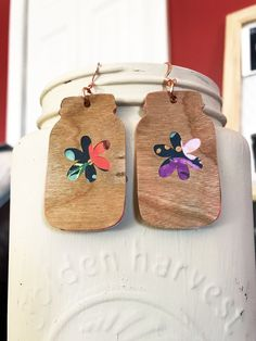 Tutorial sea glass jewelry with silhouette or cricut and for Wood veneer craft projects
