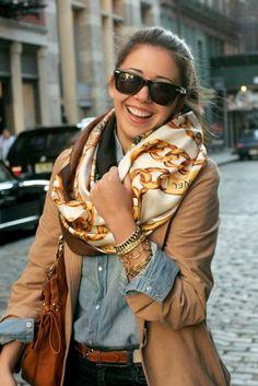 Chanel eternity scarf by Honey Rose as seen on @Jenni Radosevich from ispyDIY <3